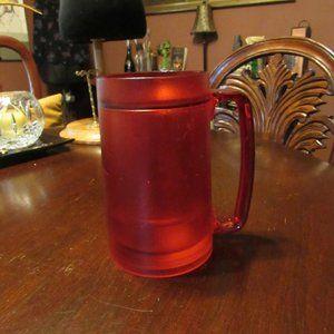 Candy Apple Red Plastic Thermal Freezer Beer Mug